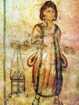 Roman_Tomb_Silistra_fresco_servant